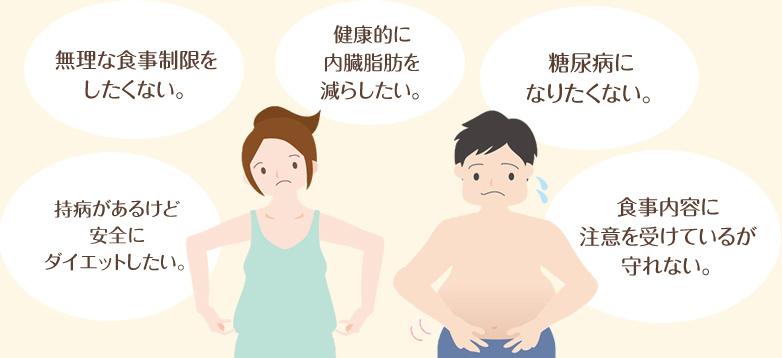 ダイエットの悩み「食事制限」「リバウンド」などを解決